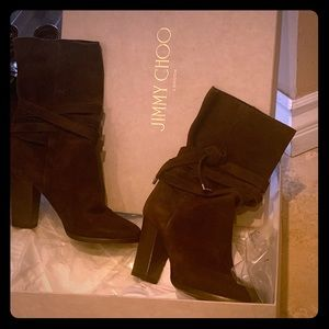 Jimmy Choo Brown Suede Boots Size 36.5